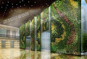 成都植物墙设计效果图