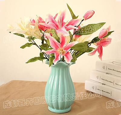 花瓶鲜花插花租摆